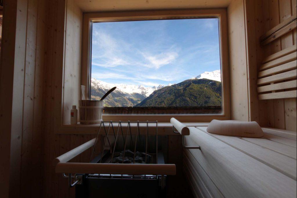 Panorama-Sauna zum Entspannen